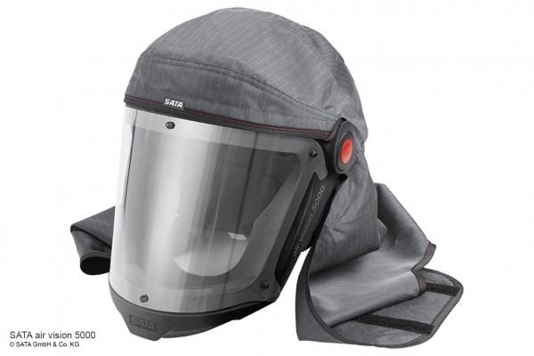 SATA air vision 5000 carbon set: Haube, Gurt, Aktivkohle-Luftreguliereinheit